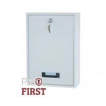 Rear Access 110 White Steel Post Box