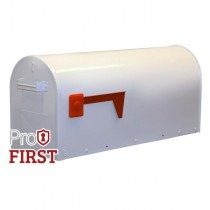 White US Steel Mailbox Red Flag Mail Pro First 630 American Post Box