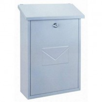 Top Loading White Post Box Pro First 570 Mailbox