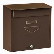 Dual Access Brown Post Box Pro First 450 Mailbox
