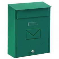 Dual Access Green Post Box Pro First 450 Mailbox