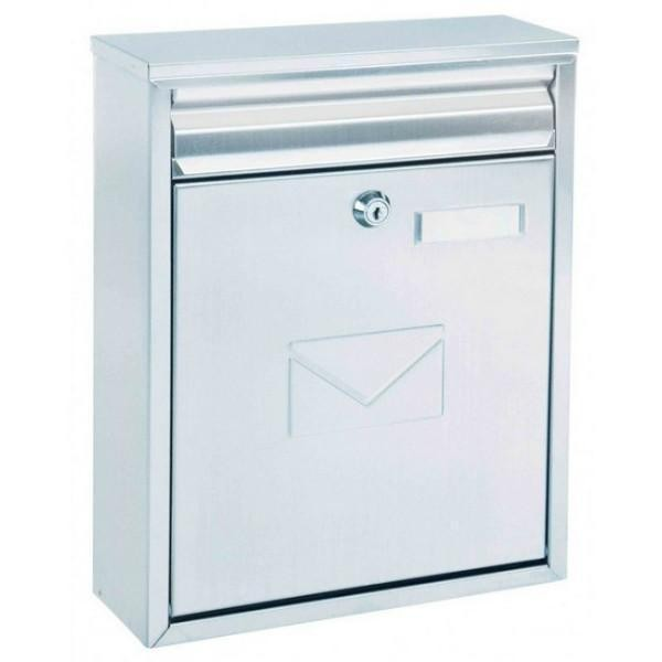 Dual Access Silver Steel Letter Box Pro First 250 Post Box