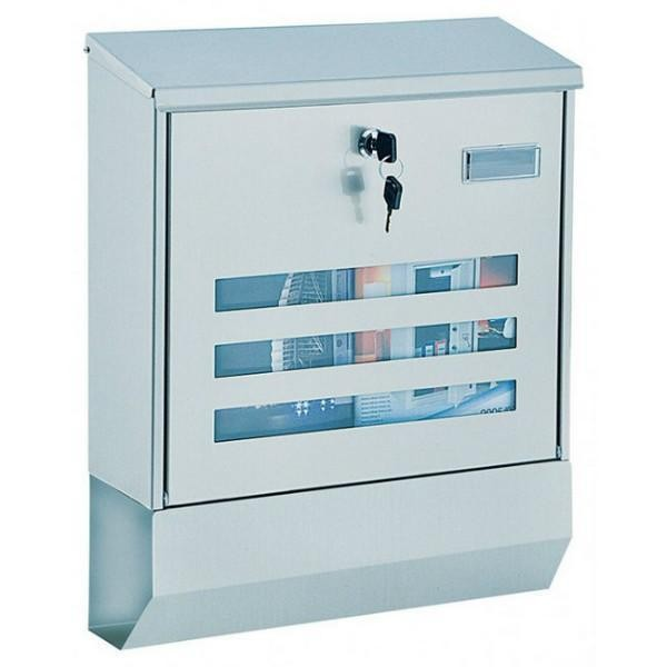 Large A4 Stainless Post Box with Newspaper Holder Pro First 690