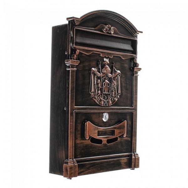 Artistic Designer A4 Antique Post Box with Regal Crest Pro First 700 Mailbox