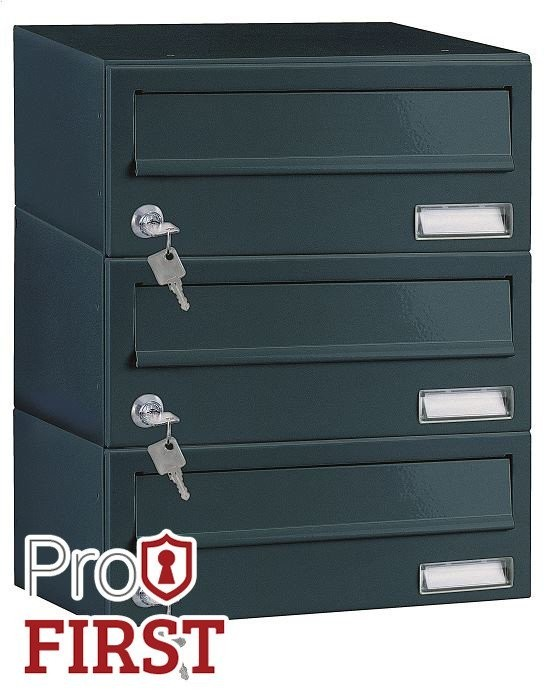Custom Built Black Apartment Post Box Pro First 192 Mailbox