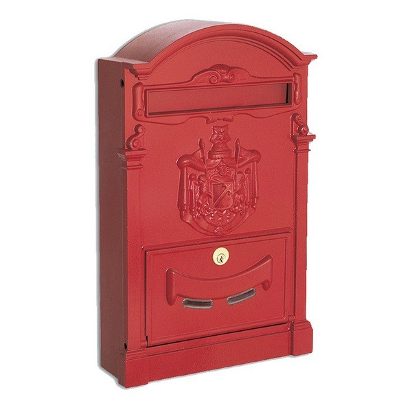Large Traditional Post Box Red Aluminium Regency