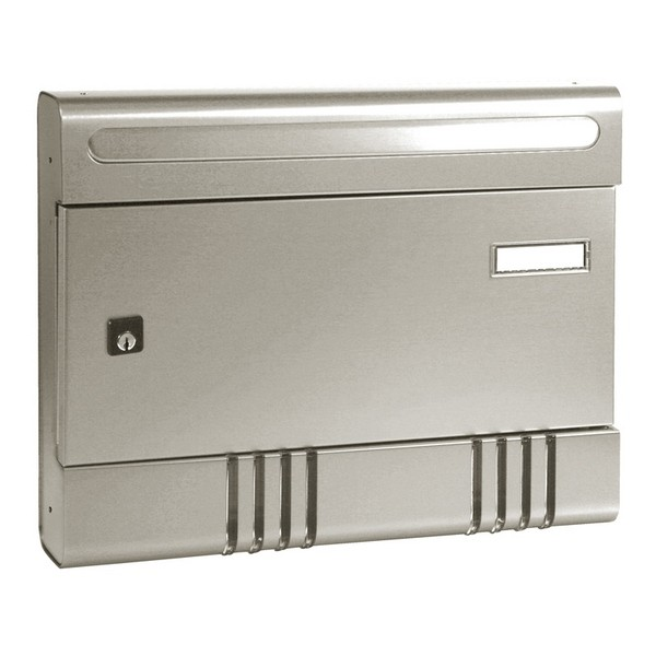 Security Postbox Silver Alluminium A4 Letterbox