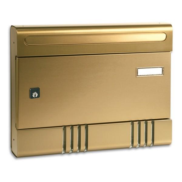 Security Postbox Bronze Aluminium A4 Letterbox