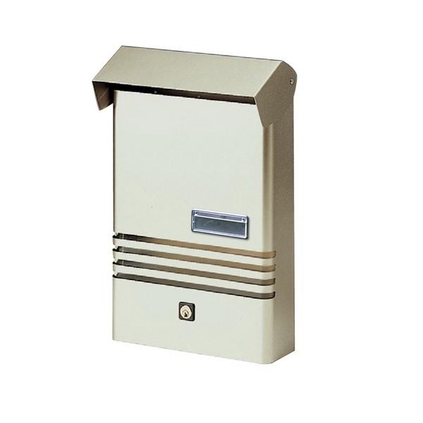 Small Stylish Post Box XE Silver Mailbox