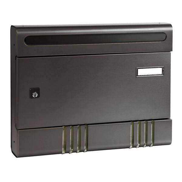Security Postbox Grey Aluminium A4 Letterbox