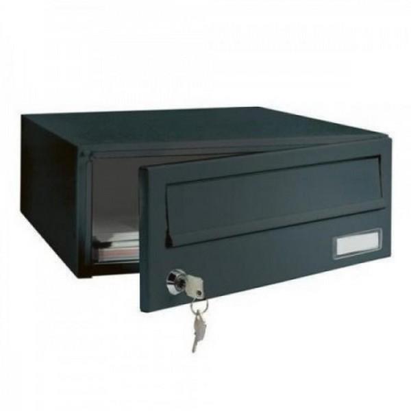 Custom Built Multi Occupancy Black Apartment Module 1 Post Box Elmz Mailbox