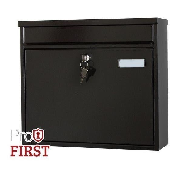 Large 120 Black A4 Steel Post Box