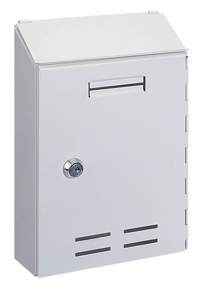 Indoor White Post Box Pro First 500 Mailbox