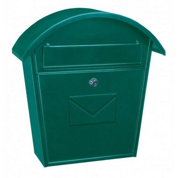 Traditional Green Steel Post Box Pro First 710 Mailbox