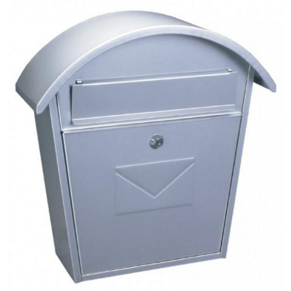 Large Traditional A4 Silver Post Box Pro First 710 Mailbox