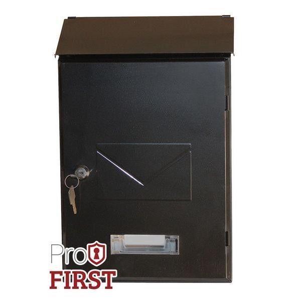 Designer Black Top Loading Key Lock Post Box Pro first 560 Letterbox