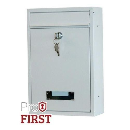 Compact White Post Box Pro First 480 Mailbox