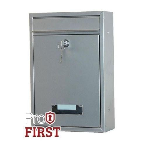 Compact Silver Post Box Pro First 480 Mailbox