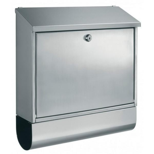 Large Stainless Steel Designer Letterbox Pro First 330 with Newspaper Holder