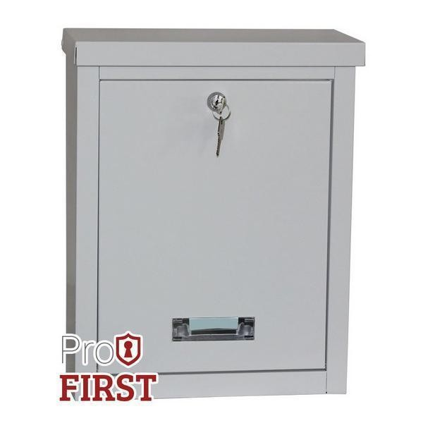 Top Loading Robust White Steel Post Box Pro First 470 Mailbox