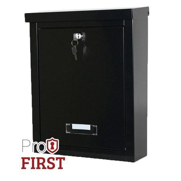 Top Loading Letter Slot A4 Black Post Box Pro First 470 Steel