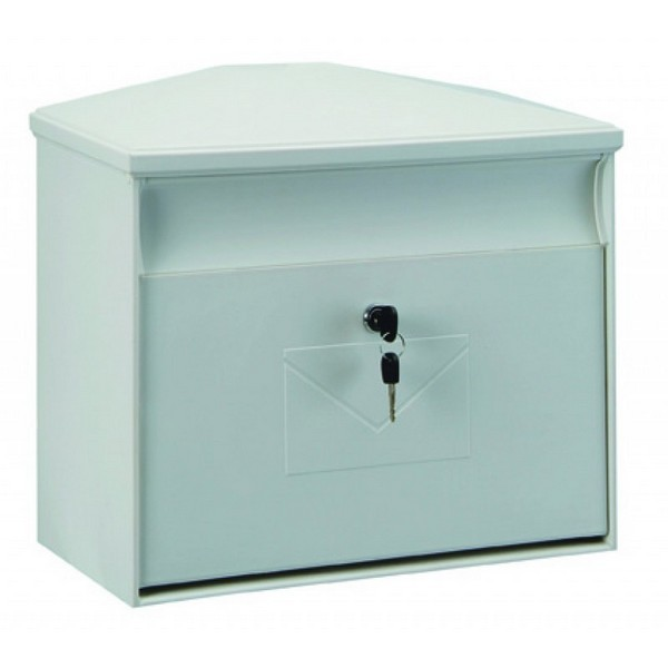 Extra Large Weatherproof Plastic White Post Box Pro First 430 Mailbox