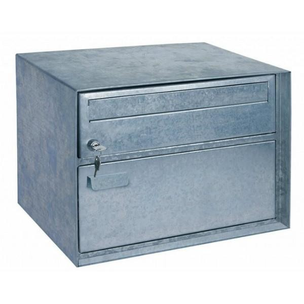 Large Swiss Style Silver Parcel Compartment Letter Box Pro First 220