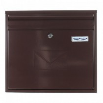 Dual Access Brown Post Box Pro First 460 Mailbox