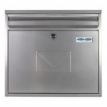Dual Access Silver Large Steel Letterbox Pro First 460 Post Box