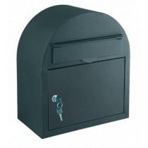 Large Rounded Top Designer Black Letter Box Key Lock Pro First 620 Post Box