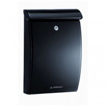 Plastic Black Post Box A4 Outdoor Wall Mounted Mininova E-5334