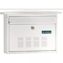 Arregui Deco White Decorative Steel Wall Mounted A4 Post Box