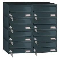 Custom Built Multi Occupany Black Apartment Module 8 Post Box 192