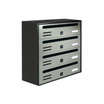The Apartment Module 4 Mailbox Stainless Steel Post Box