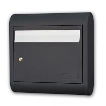 Large Mailbox Aluminium Black Designer 2