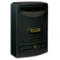 Stylish Aluminium Black Painted Outdoor Mailbox Maxi