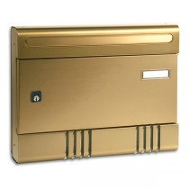Security Postbox Bronze Aluminium A4 Letterbox