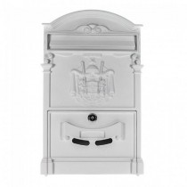 Traditional Post Box White Letterbox Artistic Designer 700 Pro First
