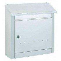Large Modern A4 Letter Slot White Post Box Pro First 420