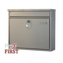 Large Silver House Apartment Pro First 120 Steel Post Box