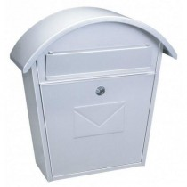 Large Traditional White Steel Front Loading Post box Pro First 710 Mailbox