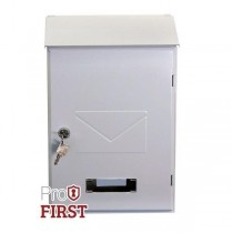 Designer White Top Loading Post box Pro First 560 Steel