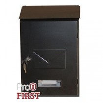 Designer Black Top Loading Key Lock Post Box Pro first 560 Letterbox