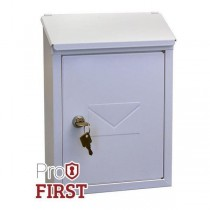Classic Designer White Steel Post Box Pro First 400 Small Mailbox