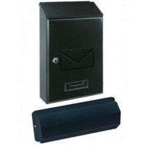 Top Loading Black Post Box Pro First 441 Newspaper Holder