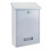 Steel Designer White Post Box Pro First 660 Mailbox