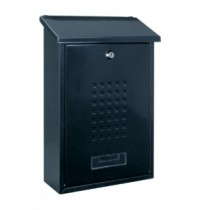 Steel Black Post Box Pro First 660 Mailbox