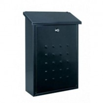 Modern Black Steel Post Box Pro First 510 Mailbox