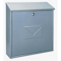Large A4 Top Loading Silver Post Box Pro First 170 Mailbox