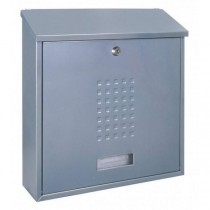 Large Modern A4 Silver Top Loading Post Box Pro First 310 Letterbox